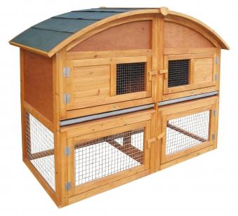 Kaninchenstall / Kleintierstall Habau Runddach Maxi 130x68x100cm Bild 1