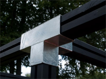 Verlängerungsbeschlag Cubic 9x9cm doppelt Plus 30,5x20x20cm verzinkt Bild 2