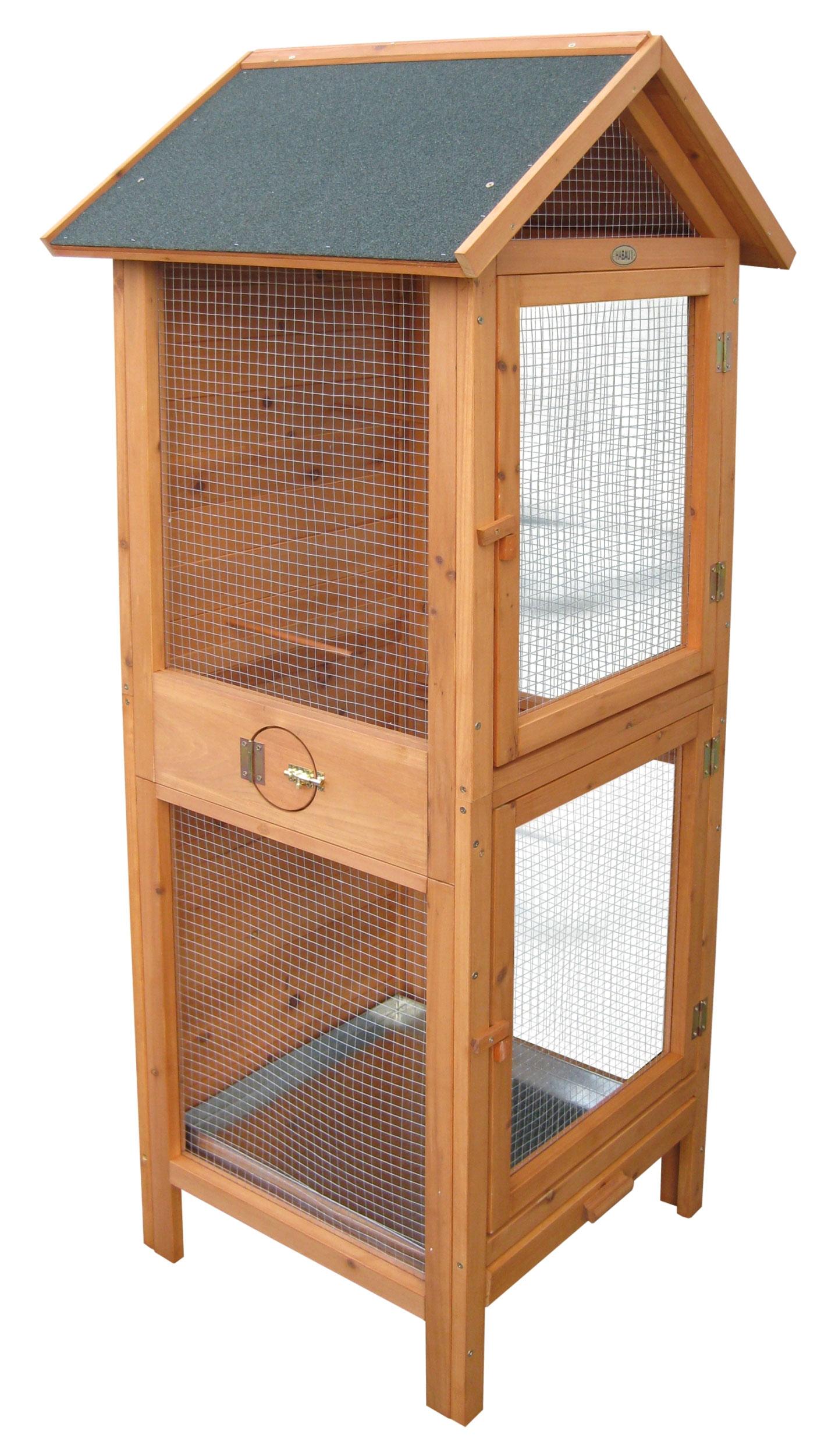 vogelvoliere vogelk fig habau 62x58x160cm bei. Black Bedroom Furniture Sets. Home Design Ideas