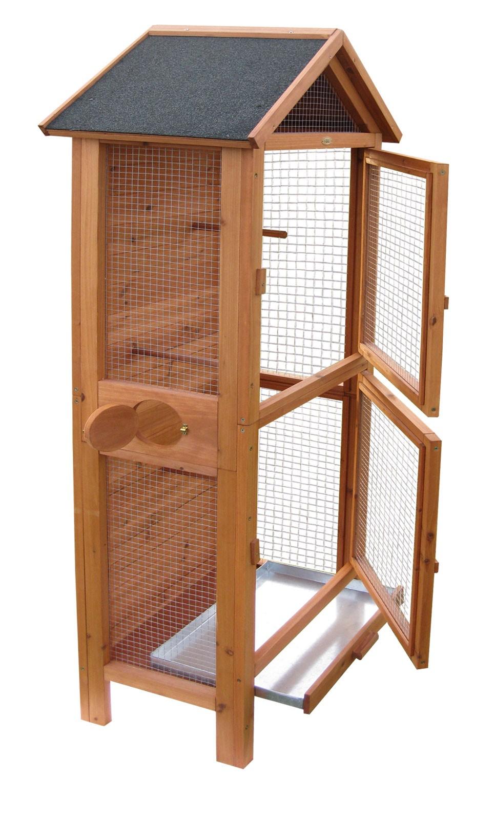 vogelvoliere vogelk fig aus kiefer 62x58x160cm bei. Black Bedroom Furniture Sets. Home Design Ideas