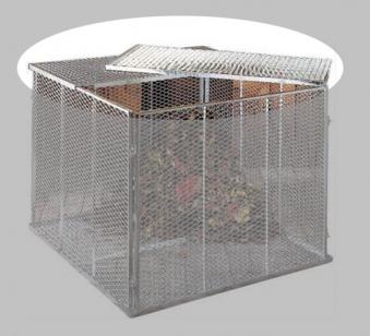 Deckel für Komposter 80x80cm 2-teilig verzinkt Bild 1
