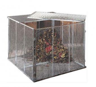 Deckel für Komposter 80x80cm 2-teilig verzinkt Bild 2