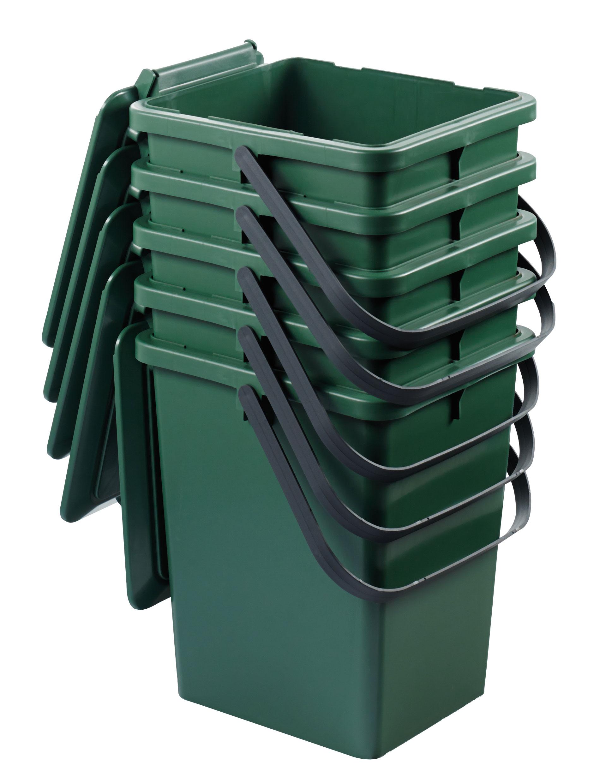 Komposteimer / Bio-Eimer grün stapelbar 8 Liter Graf 640010 Bild 2
