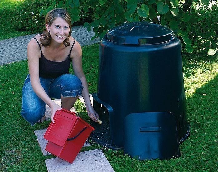 Komposter ECO-Komposter 280 Liter ohne Boden schwarz Garantia Bild 2