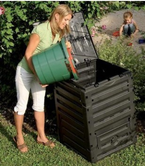 Komposter Eco-Master 450 Liter schwarz GARANTIA 628001 Bild 2