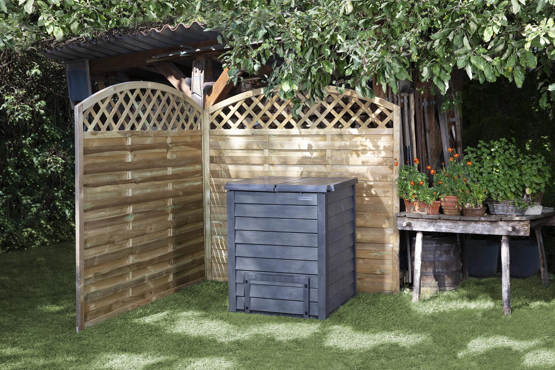 Komposter / Thermokomposter Thermo-Wood 600L braun GARANTIA 626050 Bild 3