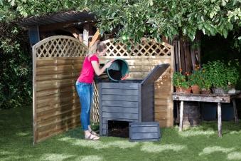 Komposter / Thermokomposter Thermo-Wood 600L braun GARANTIA 626050 Bild 7