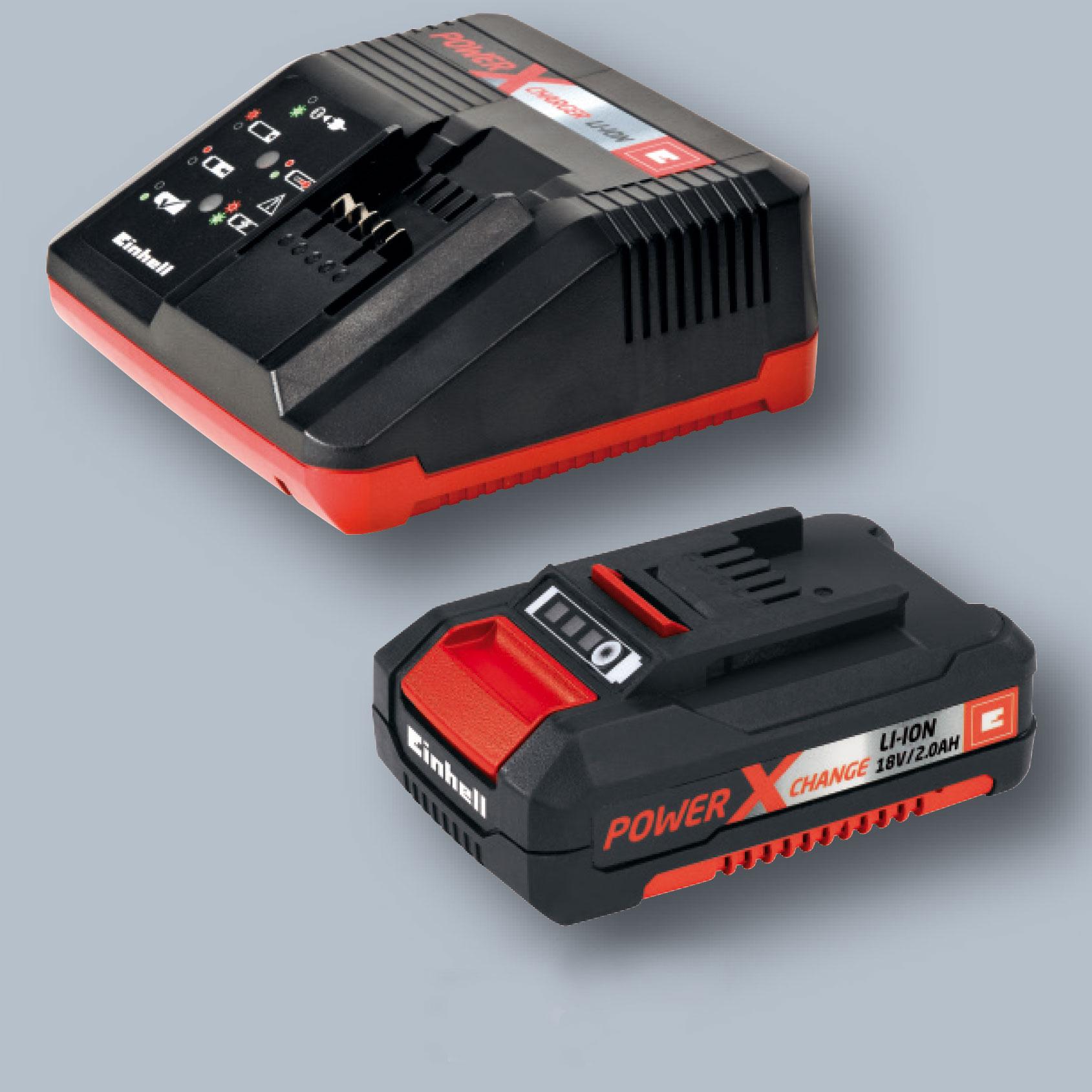 Einhell Akku-Laubbläser GE-CL 18 Li E Kit Power X-Change mit 2Ah Akku Bild 2