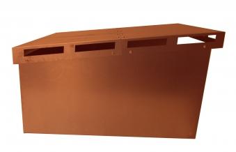 Mähroboter Garage BIO I ediGarden Stahl Rostoptik 62x77x44cm Bild 3