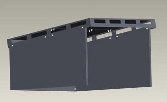 Mähroboter Garage XL ediGarden pulverbeschichtet grau 72x87x39cm