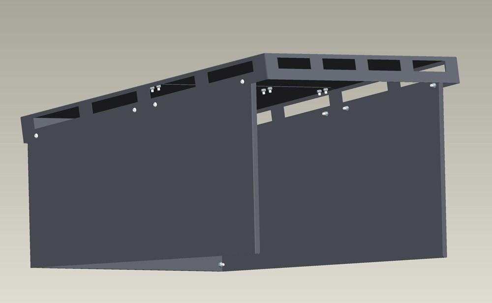 Mähroboter Garage XL ediGarden pulverbeschichtet grau 72x87x39cm Bild 1