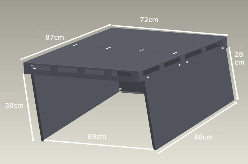 Mähroboter Garage XL ediGarden pulverbeschichtet grau 72x87x39cm Bild 3