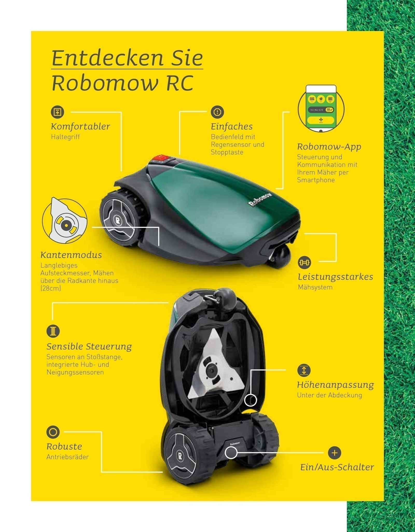 Robomow Mähroboter / Rasenroboter RC Stylish 308u SB 28cm Bild 3
