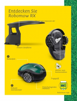 Robomow Mähroboter / Rasenroboter RX Clever 12u  SB 18cm Bild 3