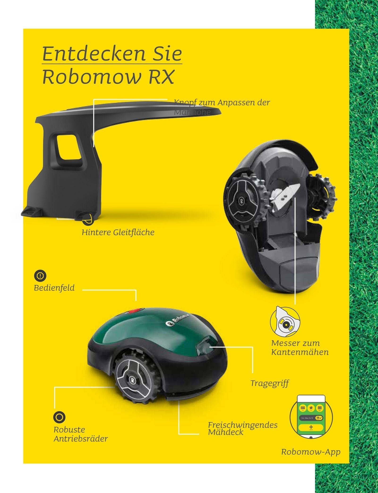 Robomow Mähroboter / Rasenroboter RX Clever 20u SB 18cm Bild 3