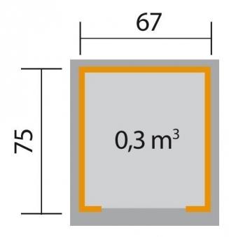 Weka Mähroboter Garage 367 grau 80x87x71cm Bild 2