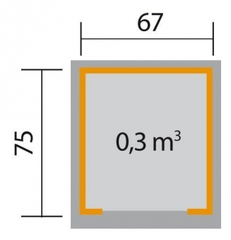 Weka Mähroboter Garage 367 natur 80x87x71cm Bild 2