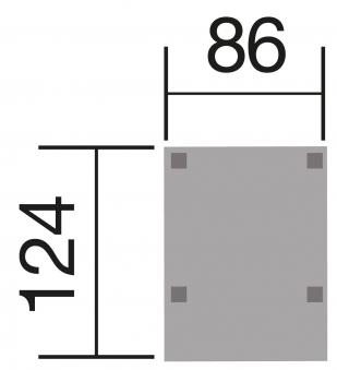 Weka Mährobotergarage 367 Y Flachdach natur 86x124x54cm Bild 2