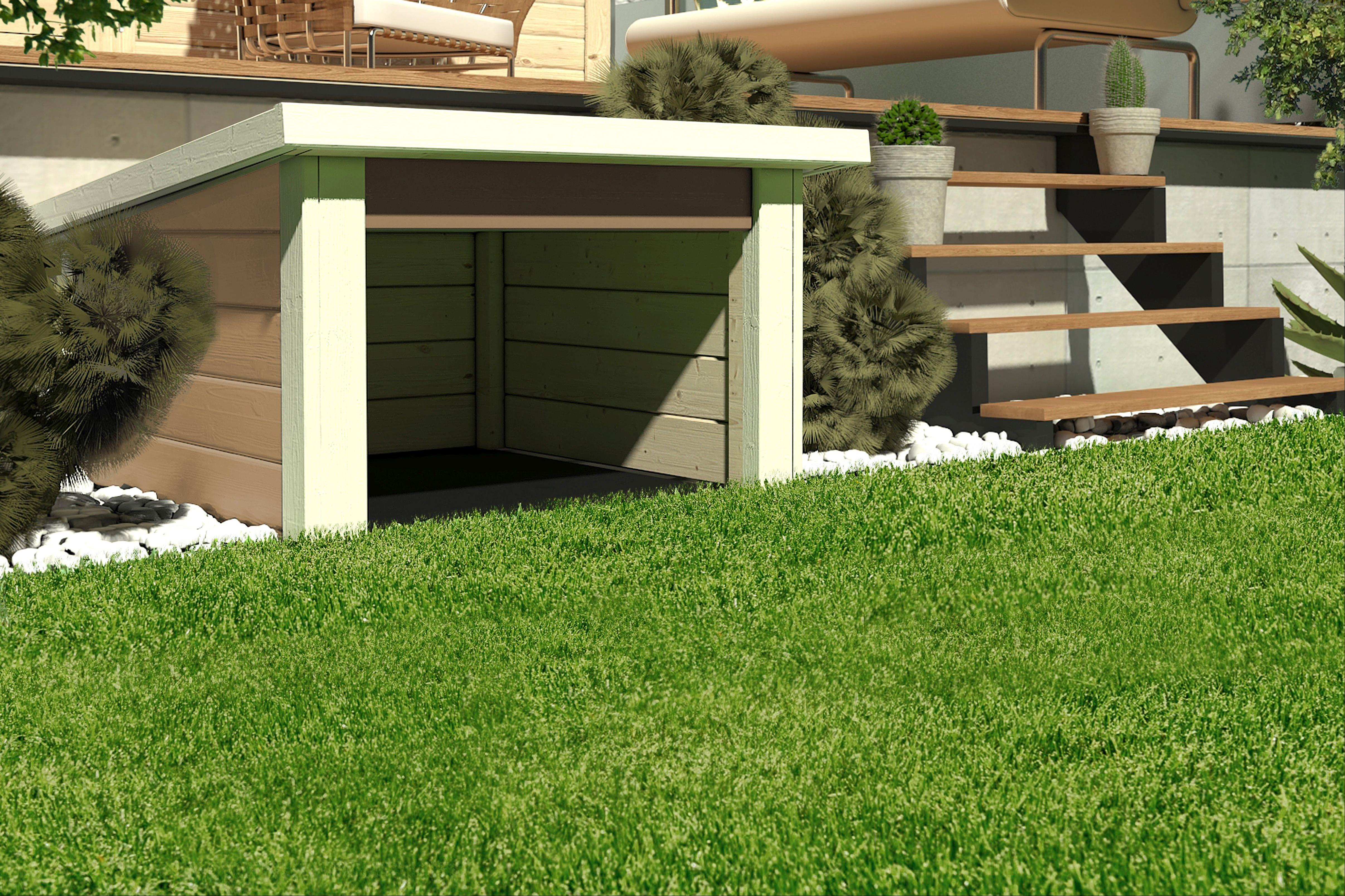 Woodfeeling Mähroboter Haus / Garage 1 sandbeige 73x77x49cm Bild 1