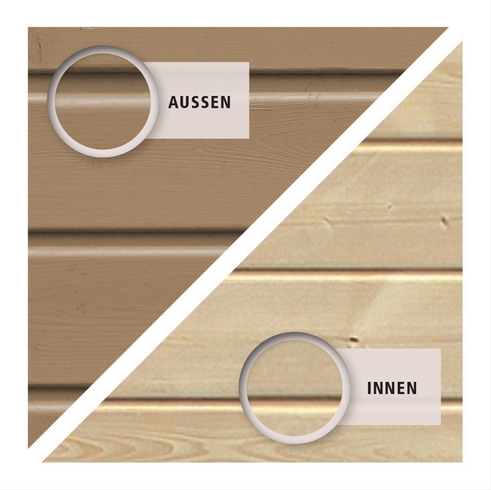 Woodfeeling Mähroboter Haus / Garage 1 sandbeige 73x77x49cm Bild 5