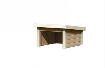 Woodfeeling Mähroboter Haus / Garage 1 sandbeige 73x77x49cm Bild 3