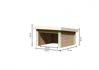 Woodfeeling Mähroboter Haus / Garage 1 sandbeige 73x77x49cm Bild 4