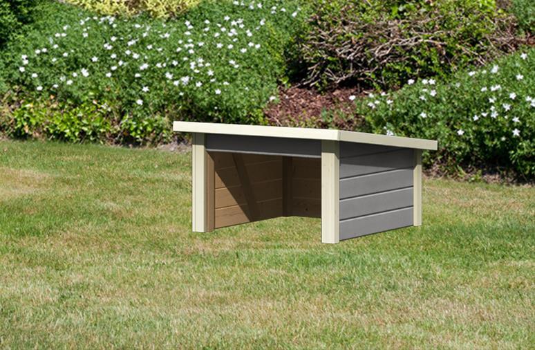 Woodfeeling Mähroboter Haus / Garage 1 seidengrau 73x77x49cm Bild 2
