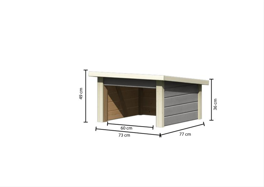 Woodfeeling Mähroboter Haus / Garage 1 seidengrau 73x77x49cm Bild 4