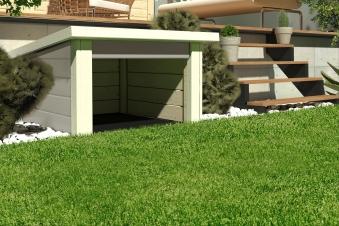 Woodfeeling Mähroboter Haus / Garage 1 seidengrau 73x77x49cm Bild 1