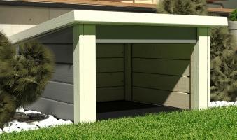 Woodfeeling Mähroboter Haus / Garage 1 terragrau 73x77x49cm Bild 1