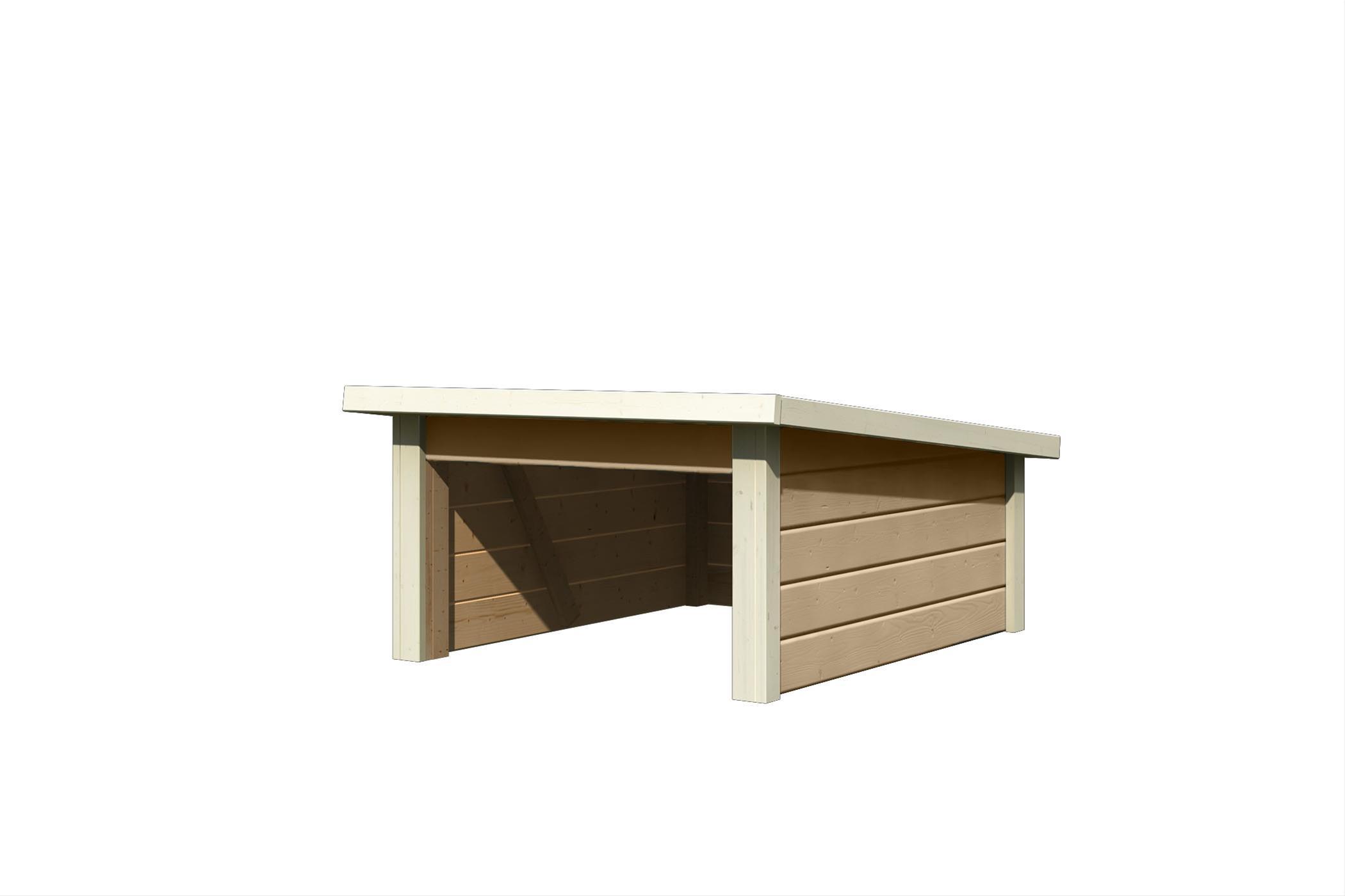 Woodfeeling Mähroboter Haus / Garage 2 sandbeige 79x96x57cm Bild 2