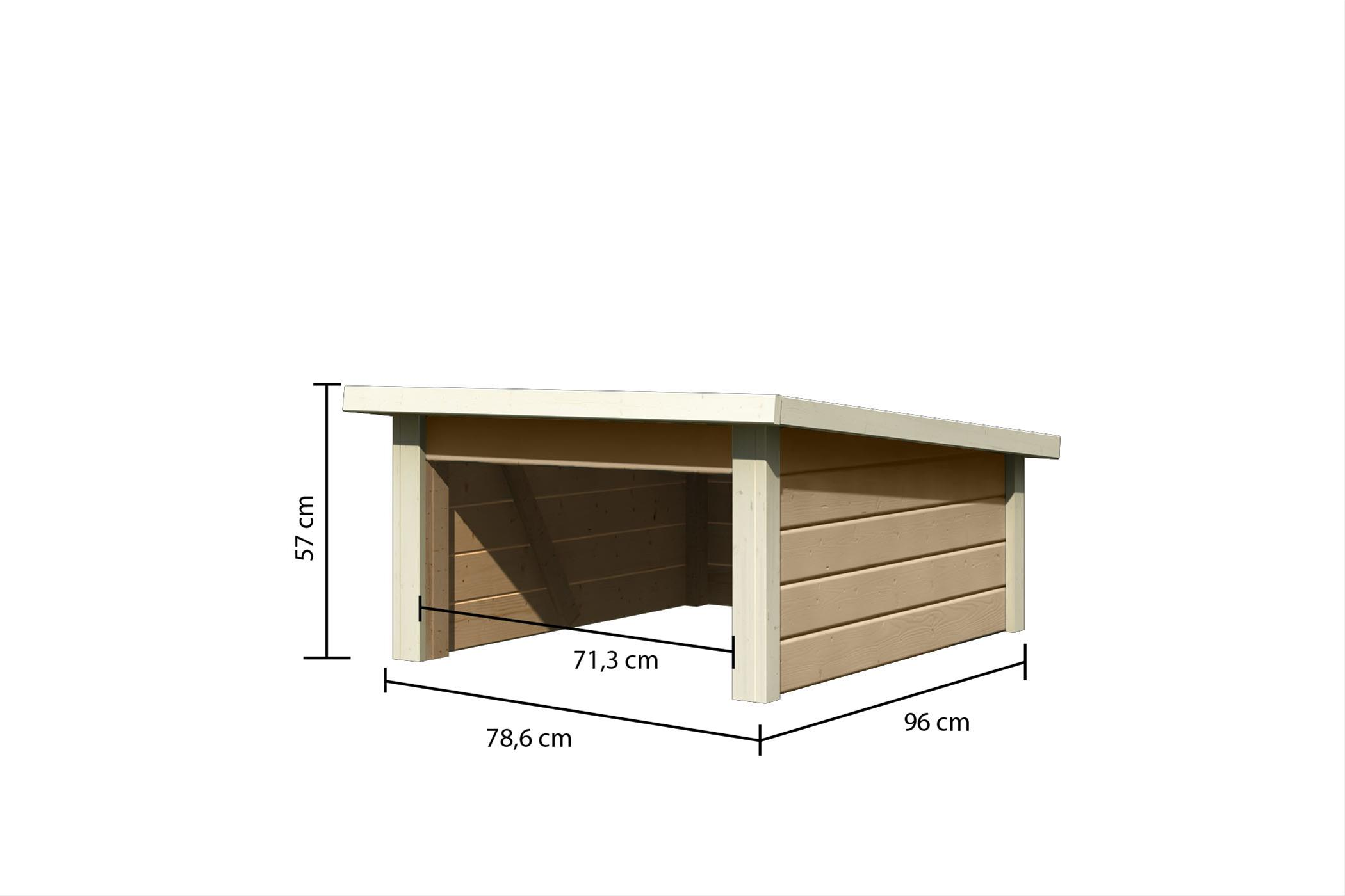 Woodfeeling Mähroboter Haus / Garage 2 sandbeige 79x96x57cm Bild 3