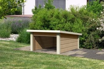 Woodfeeling Mähroboter Haus / Garage 2 sandbeige 79x96x57cm Bild 1