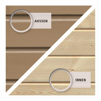 Woodfeeling Mähroboter Haus / Garage 2 sandbeige 79x96x57cm Bild 4