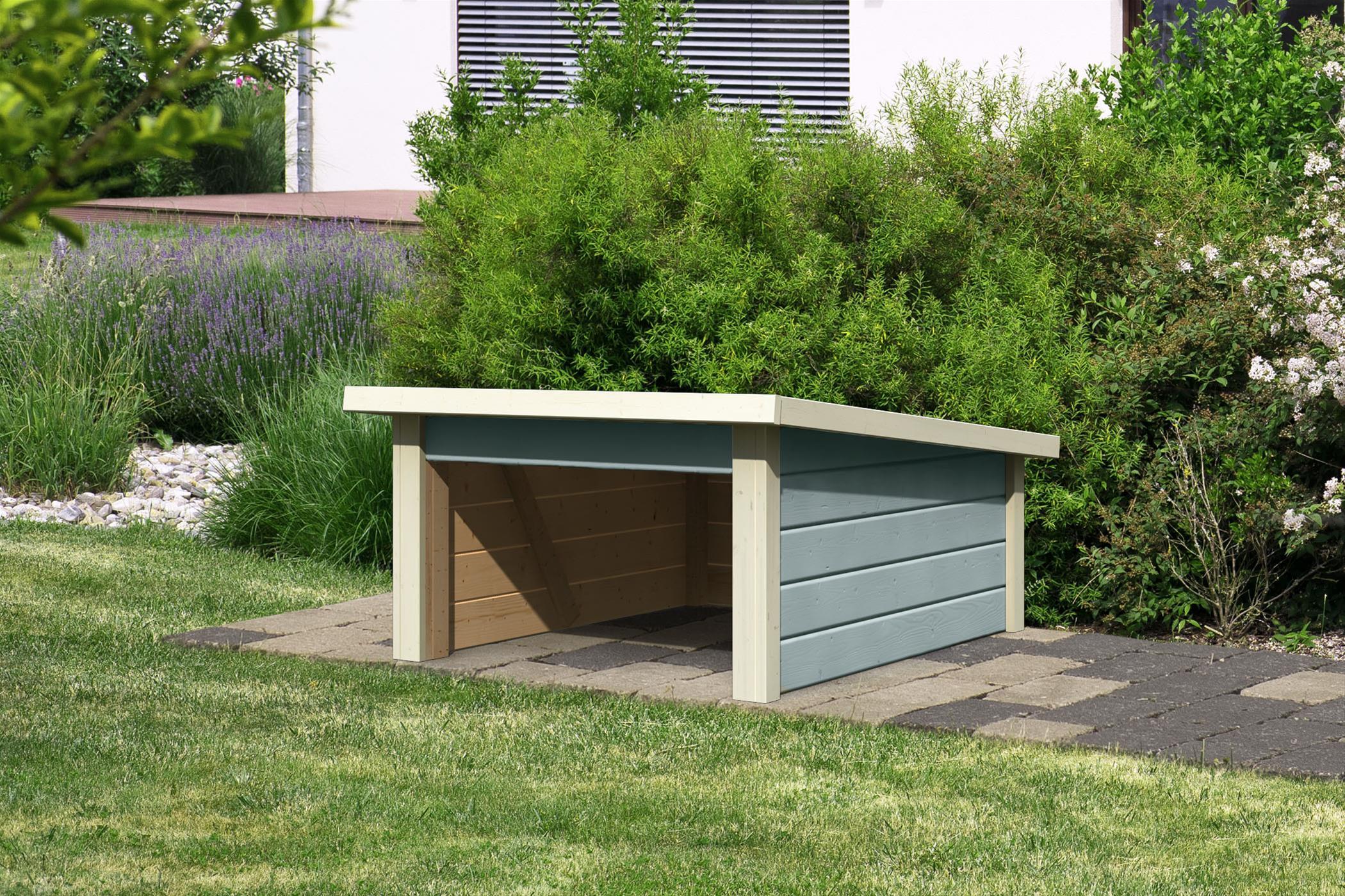Woodfeeling Mähroboter Haus / Garage 2 seidengrau 79x96x57cm Bild 1