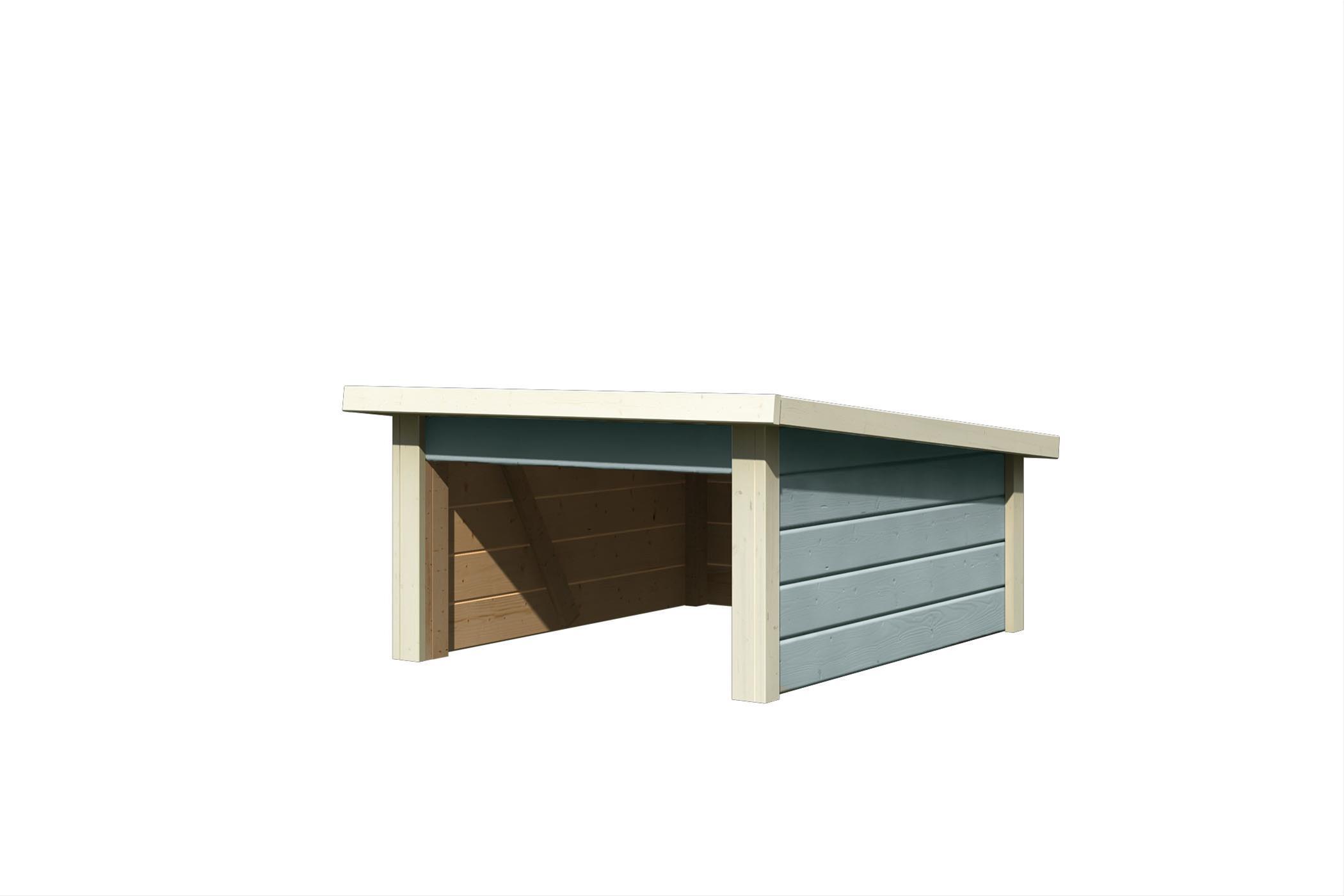 Woodfeeling Mähroboter Haus / Garage 2 seidengrau 79x96x57cm Bild 2