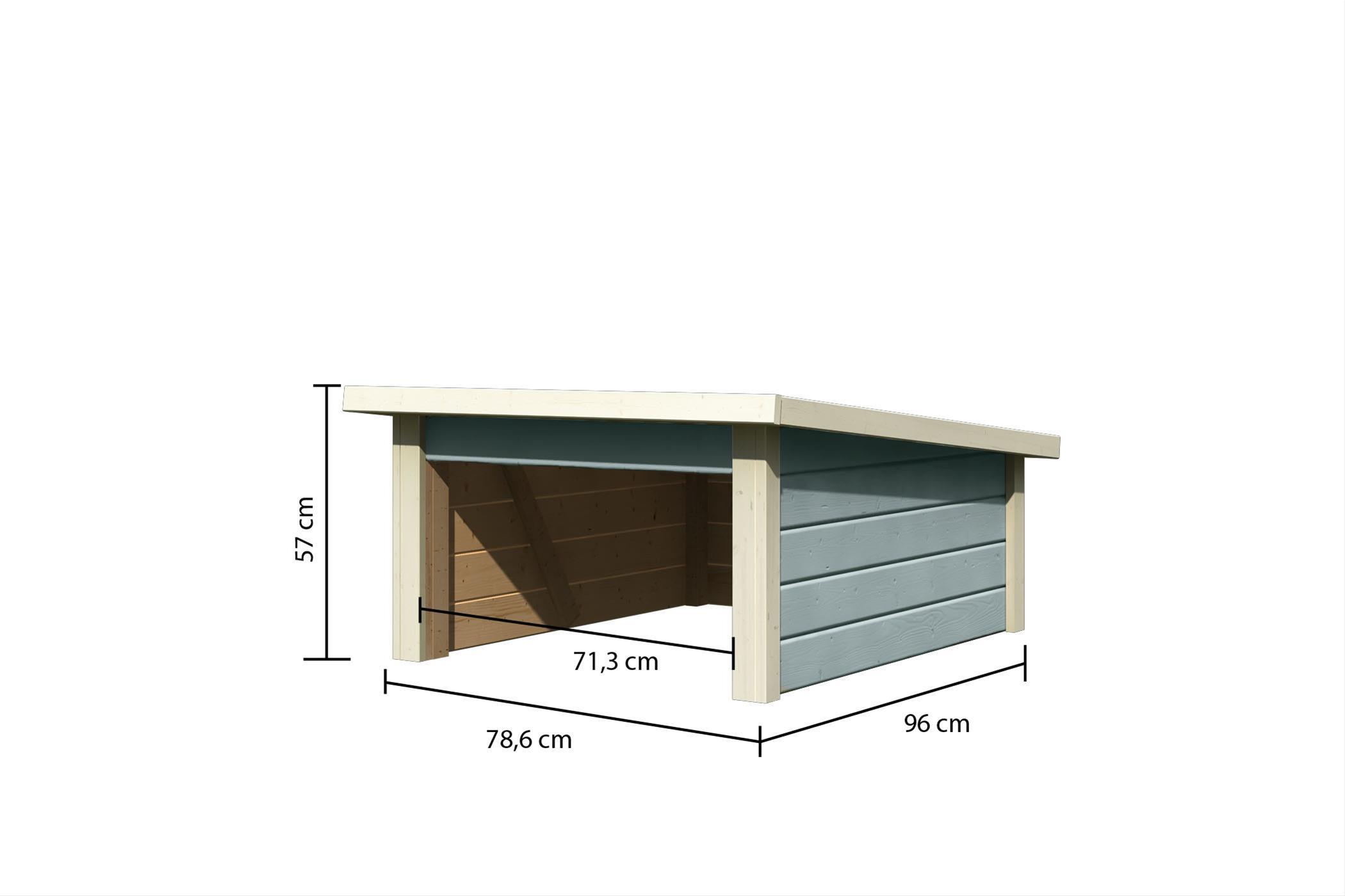 Woodfeeling Mähroboter Haus / Garage 2 seidengrau 79x96x57cm Bild 3