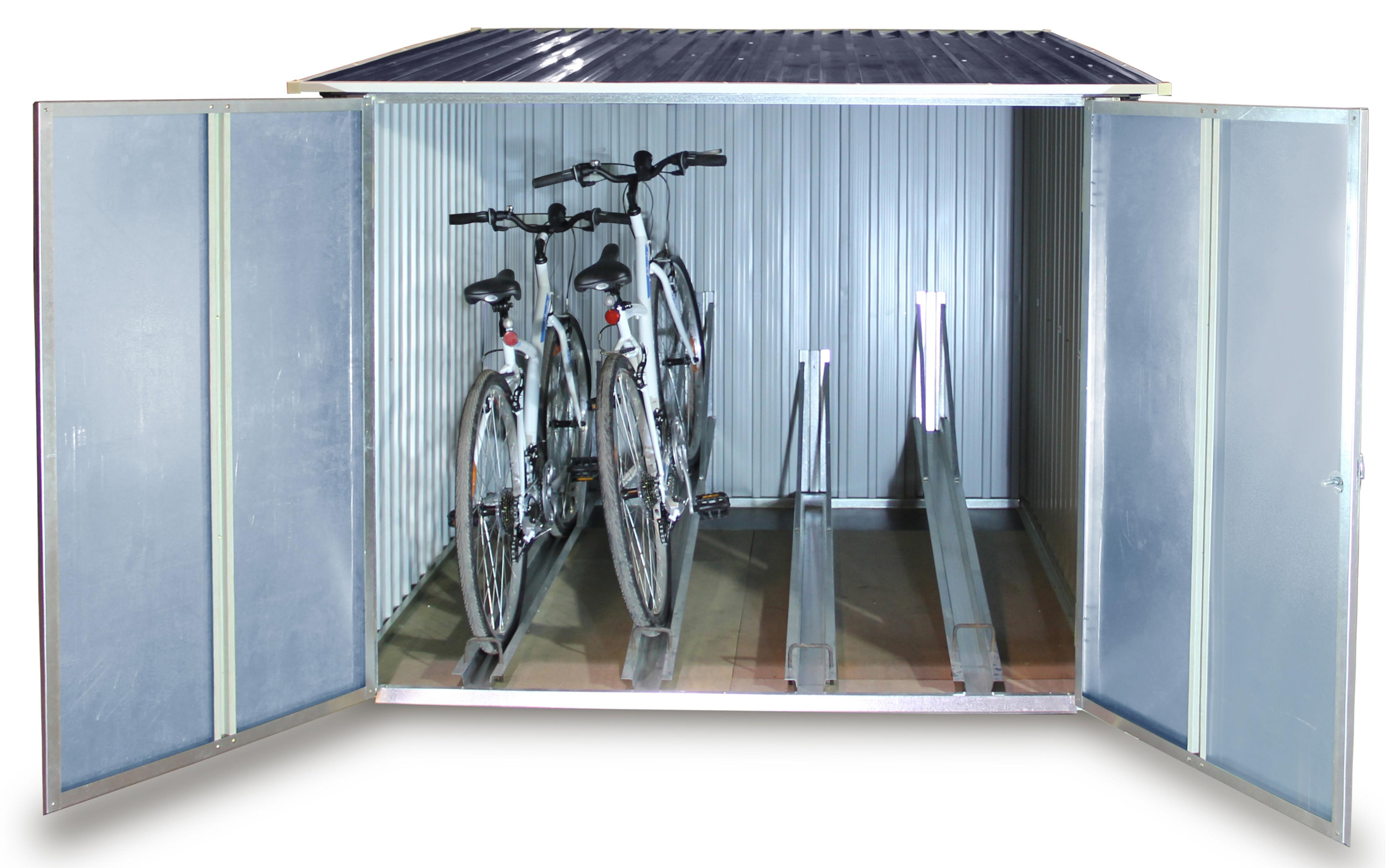 duramax fahrradbox fahrradgarage metall 192x192x143cm anthrazit bei. Black Bedroom Furniture Sets. Home Design Ideas
