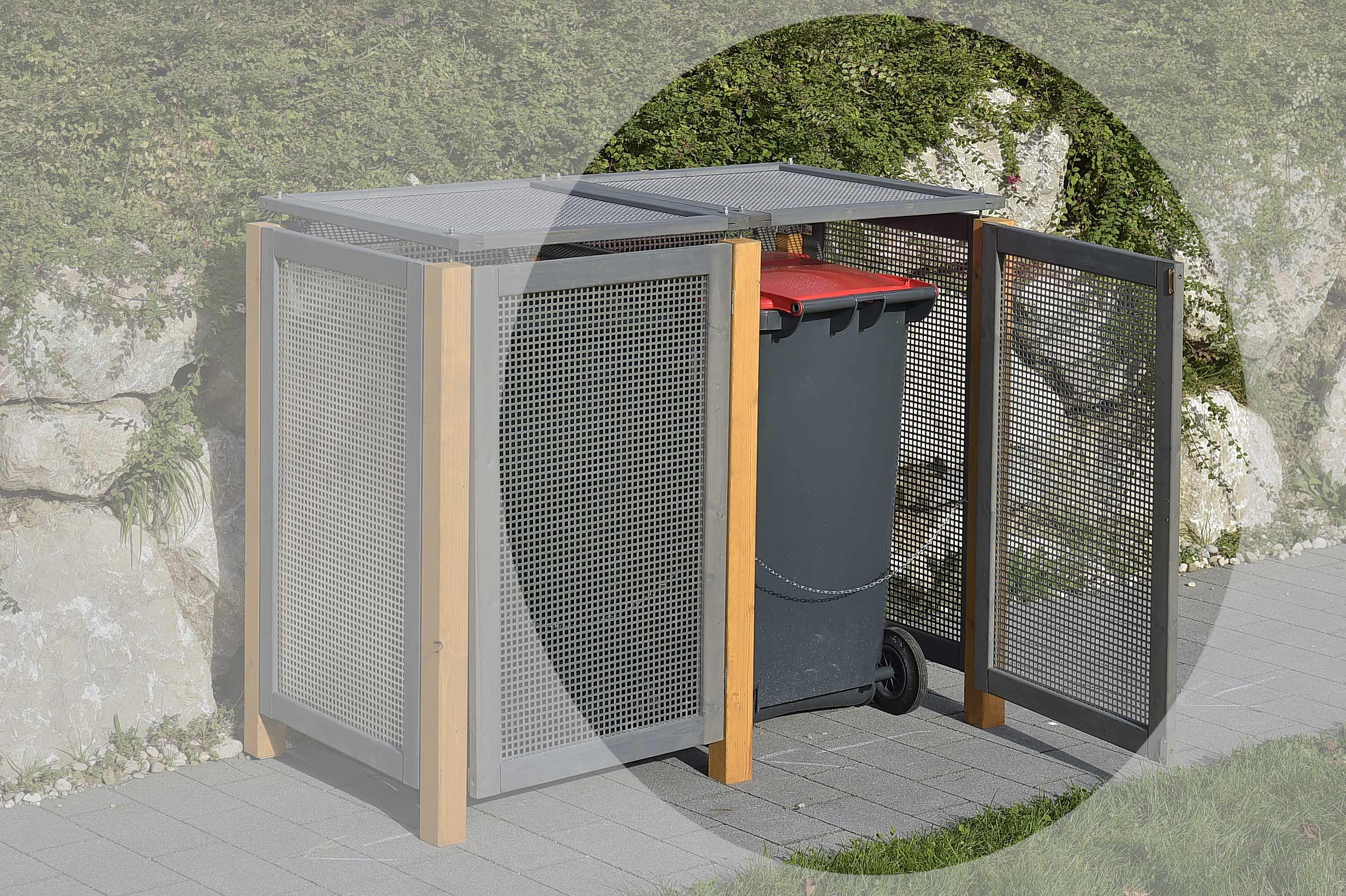 Erweiterungselement Mülltonnenbox Kirchdorf 75x123cm Bild 1