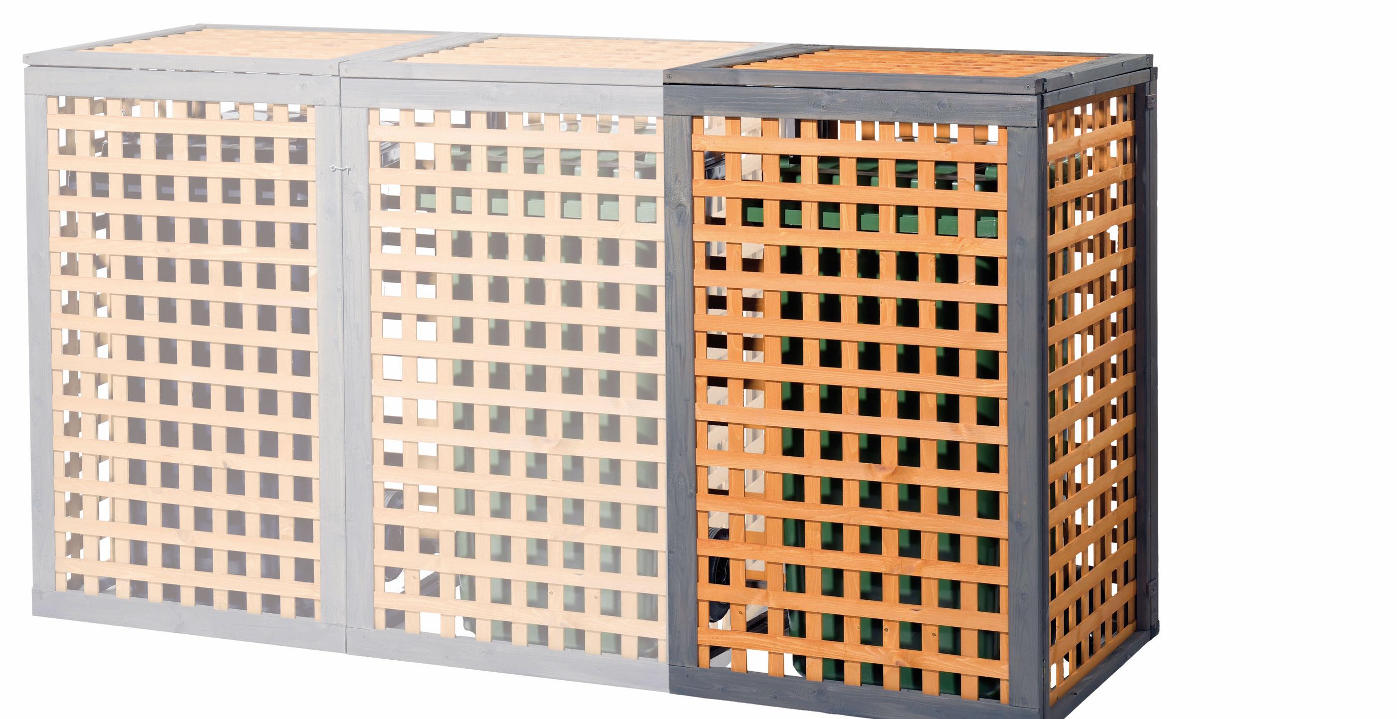 Erweiterungselement zu Holz Mülltonnenbox Kaprun Bild 1