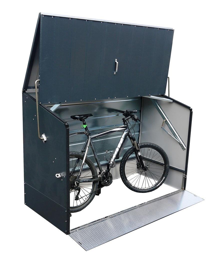 fahrradbox fahrradgarage tepro metall 196x89x133cm anthrazit bei. Black Bedroom Furniture Sets. Home Design Ideas