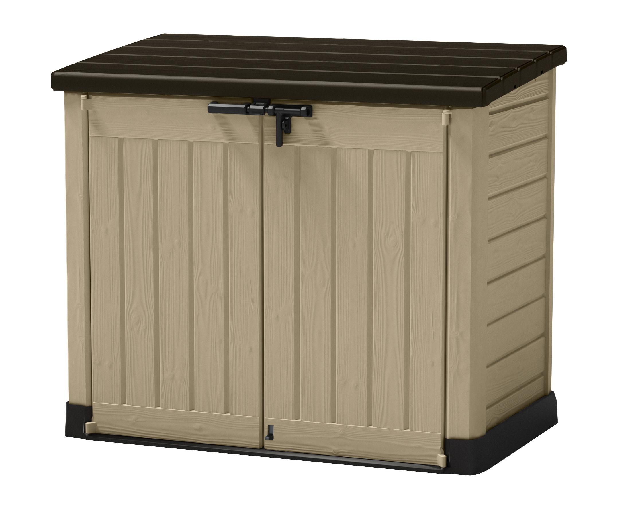 gartenbox aufbewahrungsbox store it out max tepro 146x82x125cm beige bei. Black Bedroom Furniture Sets. Home Design Ideas