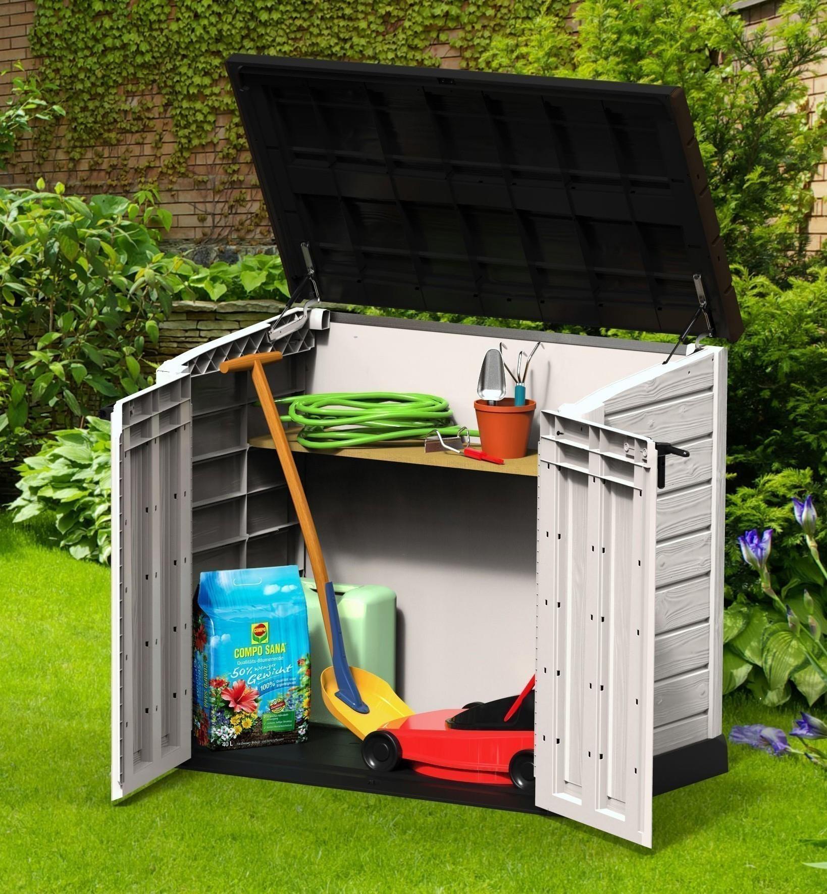 gartenbox aufbewahrungsbox store it out max tepro. Black Bedroom Furniture Sets. Home Design Ideas