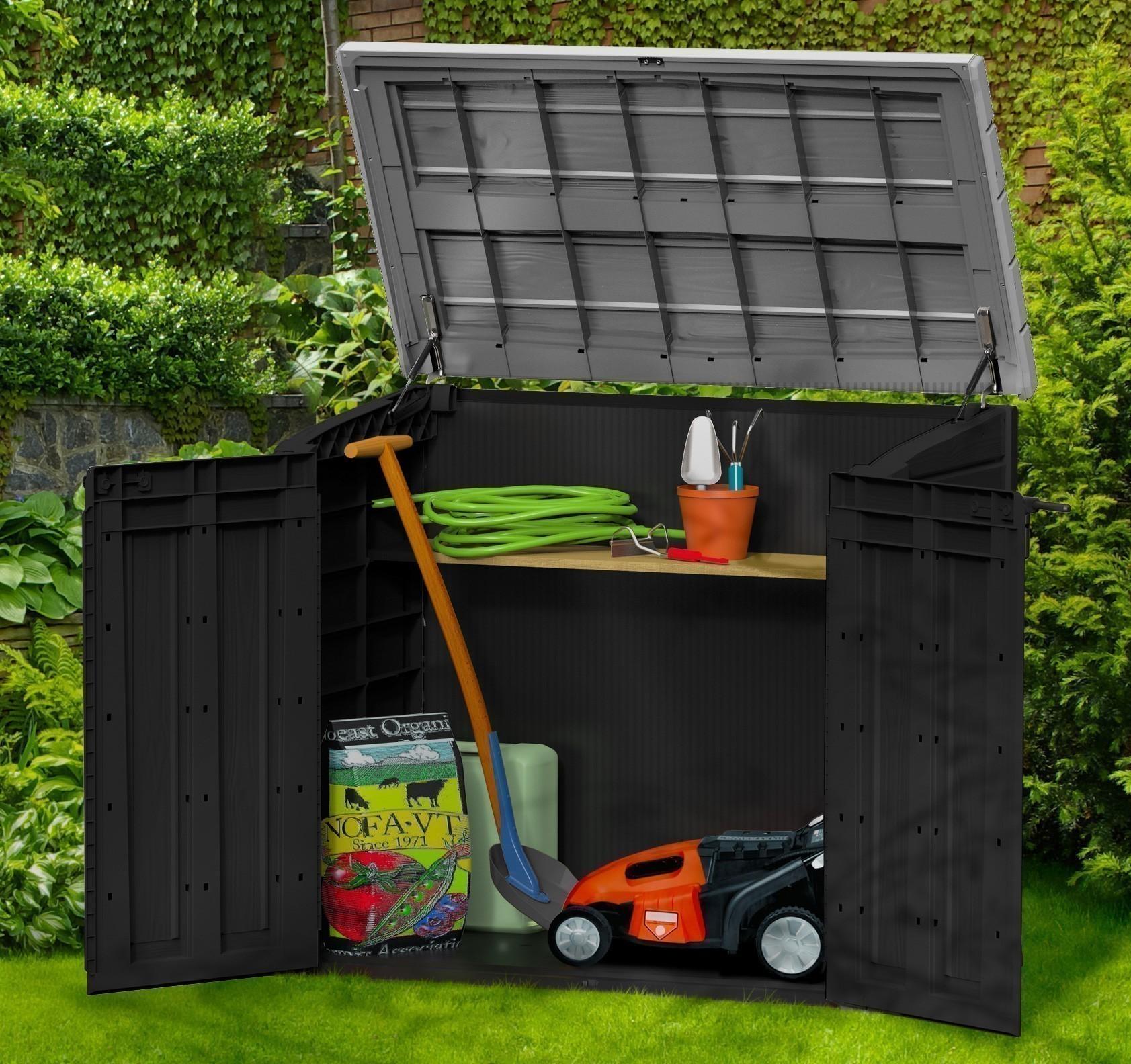 gartenbox aufbewahrungsbox store it out tepro