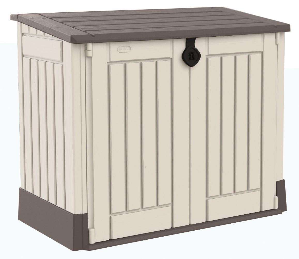 Gartenbox aufbewahrungsbox woodland 30 keter 132x74x110 for Arcones de jardin