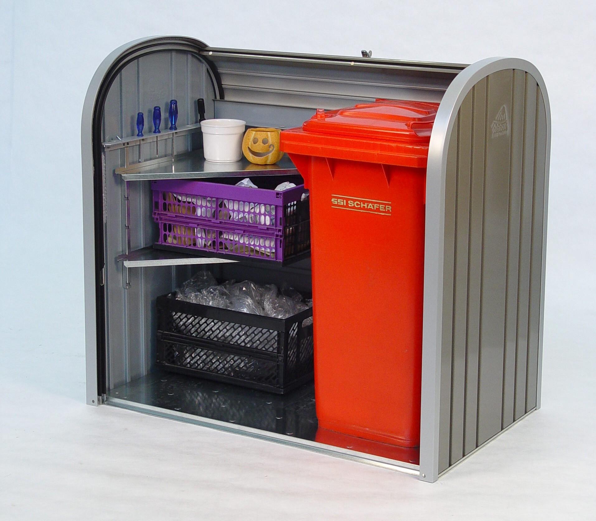 Gartenbox / Auflagenbox Biohort Storemax 120 quarzgrau Bild 2