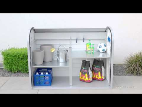 Gartenbox / Auflagenbox Biohort Storemax 160 dunkelgrau-metallic Video Screenshot 1263