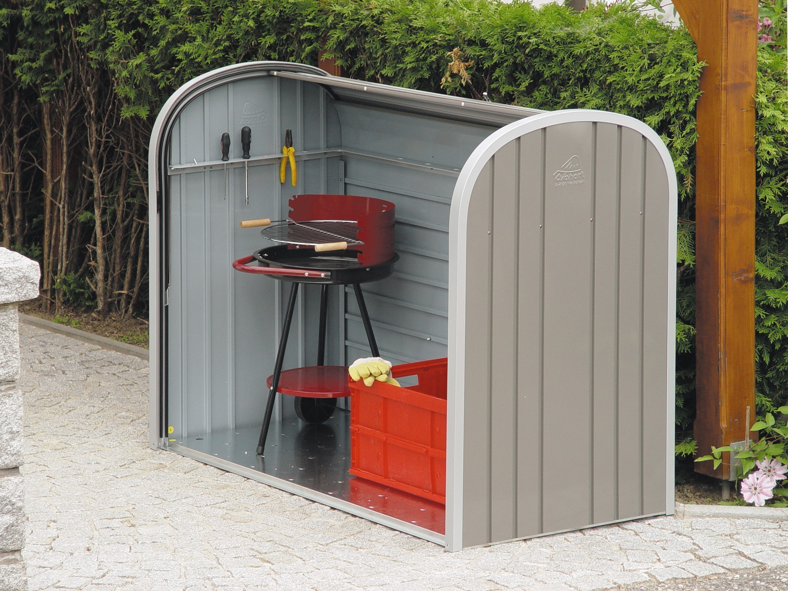 Gartenbox / Auflagenbox Biohort Storemax 160 quarzgrau Bild 3