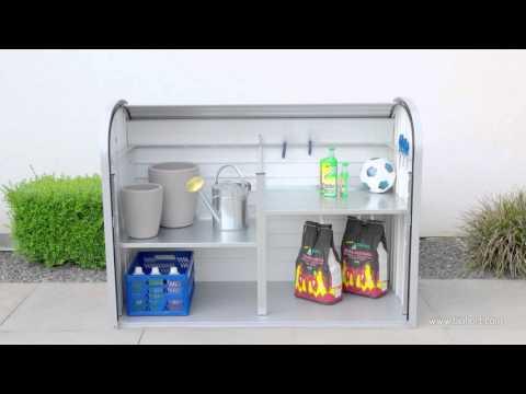 Gartenbox / Auflagenbox Biohort Storemax 160 silber-metallic Video Screenshot 1261