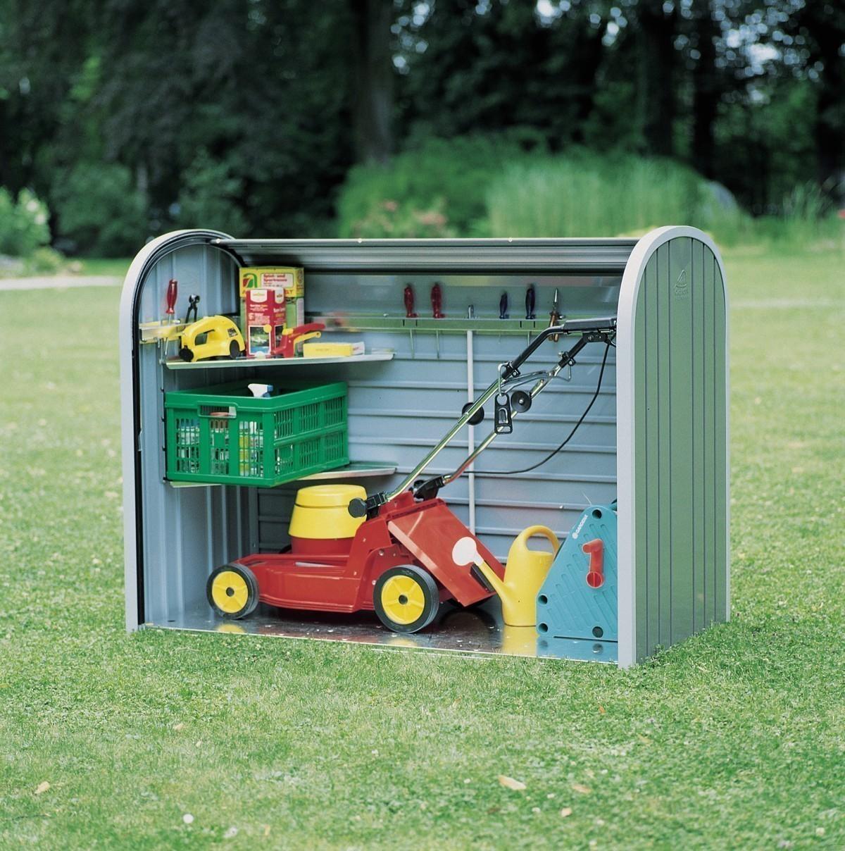 gartenbox auflagenbox biohort storemax 190 quarzgrau bei. Black Bedroom Furniture Sets. Home Design Ideas
